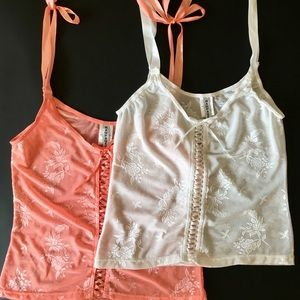 Bundle! Rampage brand (set of two) sheer camisoles